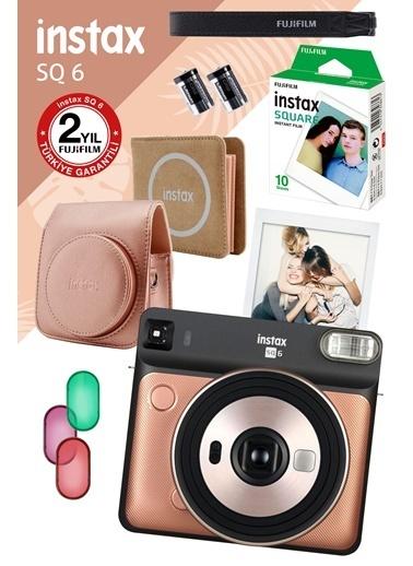 Fujifilm Instax SQ 6 Altın Fotoğraf Makinesi ve Hediye Seti Altın